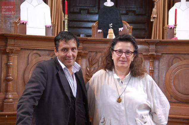 Nordine Laroussi et Marie-Dominique Desplanches.