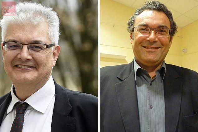 "Michel Tissandier et Gérard Doray, candidat à l'investiture ""En marche"" sur la 1re circonscription."