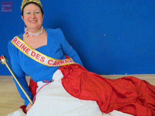 Nadine Babonneau est la première reine des carnavaliers