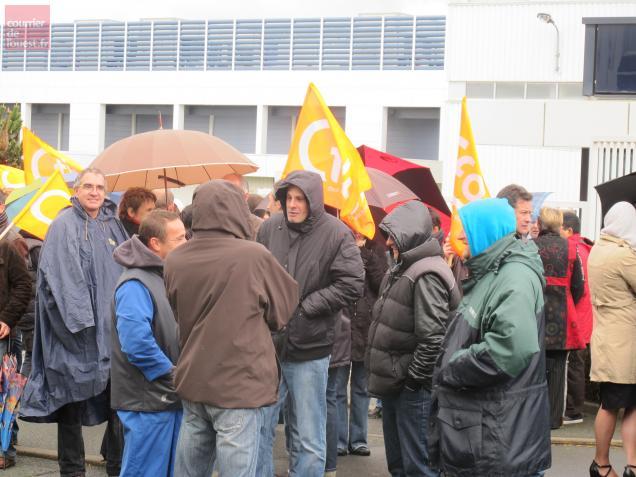 Angers, mercredi. Le mouvement était suivi par 70% des salariés selon la CFDT