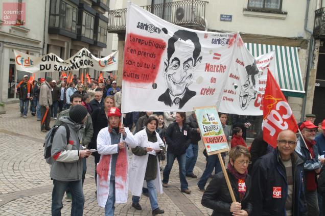 1er-Mai 2009 à Saumur : Sarkozy tenait déjà la vedette.