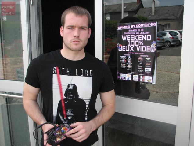 Olivier, alias Solinvictus, va participer à 6 tournois durant le «week-end 100% jeux vidéos» organisée par l'association pouancéenne SDA Games à Combrée.