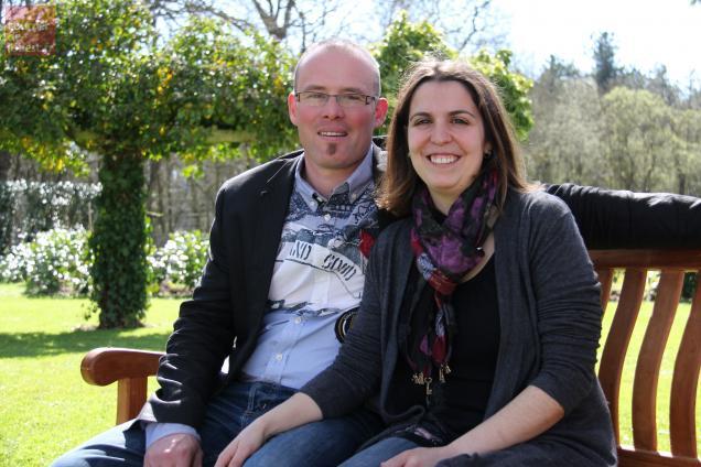 Les Bressuirais Amélie Vion et Jérôme Gabard dirigent le Domaine des bois à Mauzé-Thouarsais.