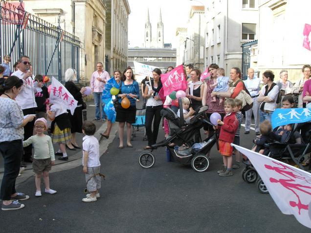 Lors de la dernière manifestation  à Niort des anti mariage gay, mercredi.