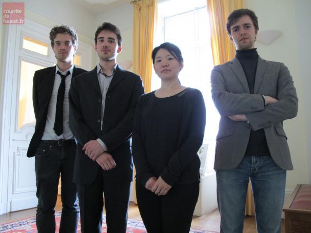 Les 4 organistes finalistes.