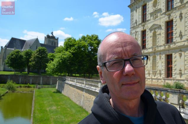 David Toop ce lundi après-midi au château d'Oiron.