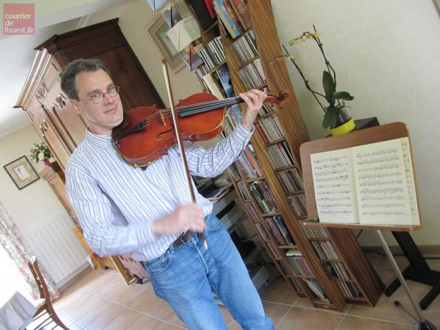 Damien Séchet, Avrillais et musicien à l'ONPL. Photo Bruno JEOFFROY