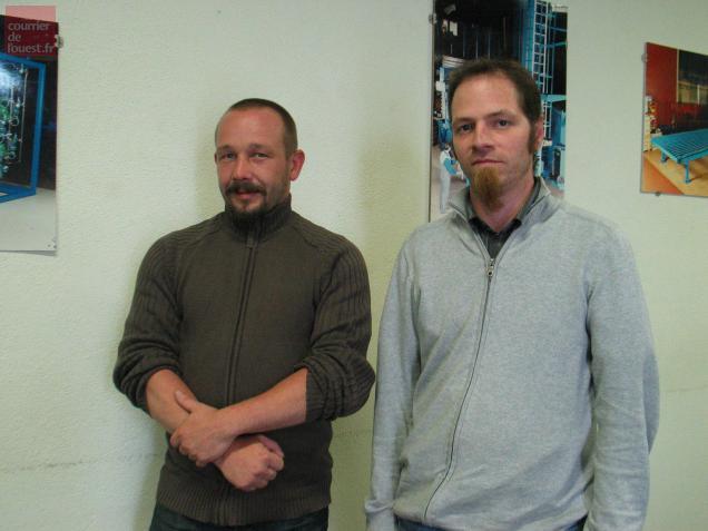 Elus du personnel, Marc Pacot et Jérôme Patedoye ont organisé une réunion avec leurs collègues pour les informer.