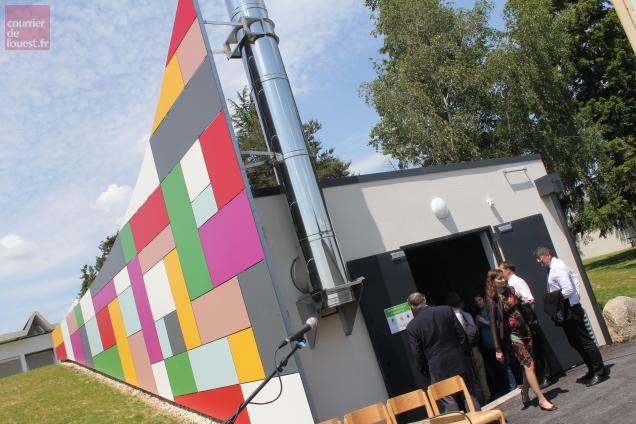 La chaudière à bois sera alimentée par les déchets de l'activité palettes des Ateliers du Bocage.