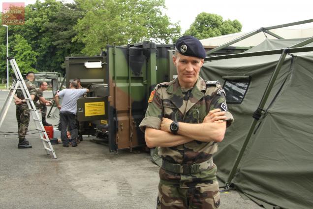 Le lieutenant-colonel Marc Caudrillier, commandant du 2e RD