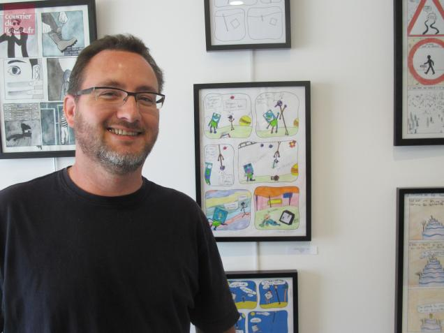 L'auteur de BD Tehem a carte blanche durant ce week-end dédié au 9e art à Mazé.