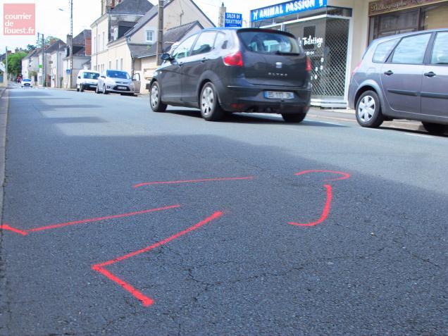 Le meurtre a eu lieu dans la rue principale de Tiercé.