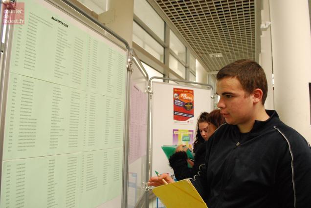 Une centaine de jeunes étaient attendus lors du job dating apprentissage. Photo CO.