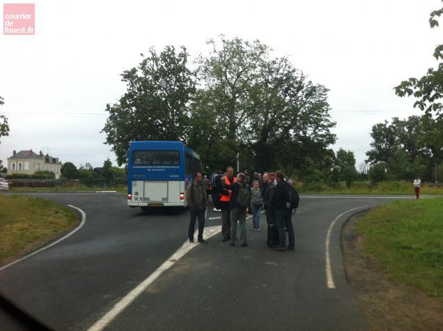 Les voyageurs ont été récupéré par une navette bus