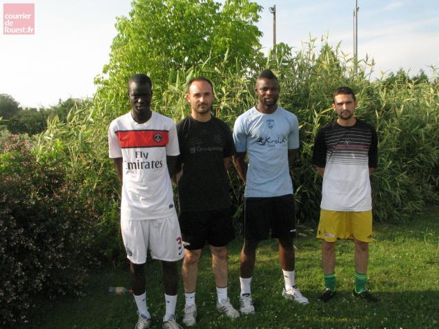 François Mendy, Jean-Charles Bransard, Raphaël M'Baka et Maxime Picard sont les quatre recrues du FC Chauray.
