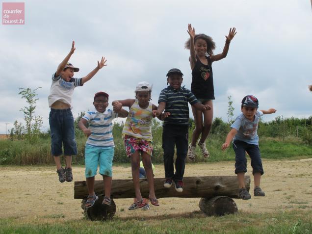 Les enfants débordaient encore d'énergie à la fin du jeu... (Crédit : Orlane DENIEL)