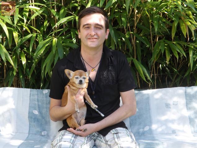 Les vacances scolaires sont l'occasion pour Nicolas Brochet et son chien Rhapsodie de revenir sur Cholet
