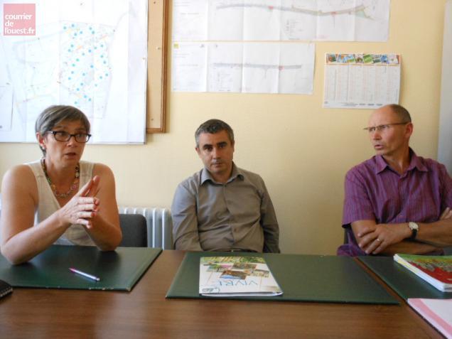 Le docteur Vasilescu était accueilli à bras ouverts par le maire et son adjointe le 4 septembre.