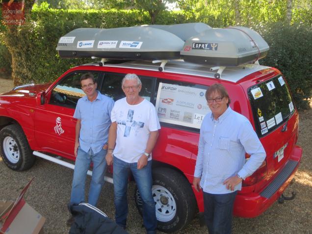 Les trois chefs d'entreprises prennent la route ce mercredi pour le Maroc.