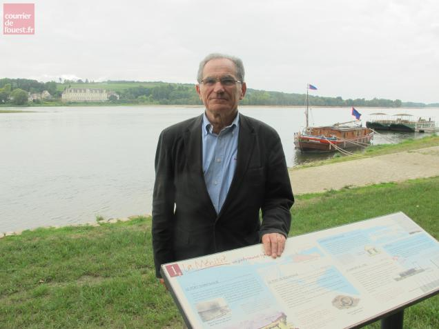 Claude Mainguy, ici au port Saint-Maur de La Ménitré réhabilité entre 2003 et 2009.