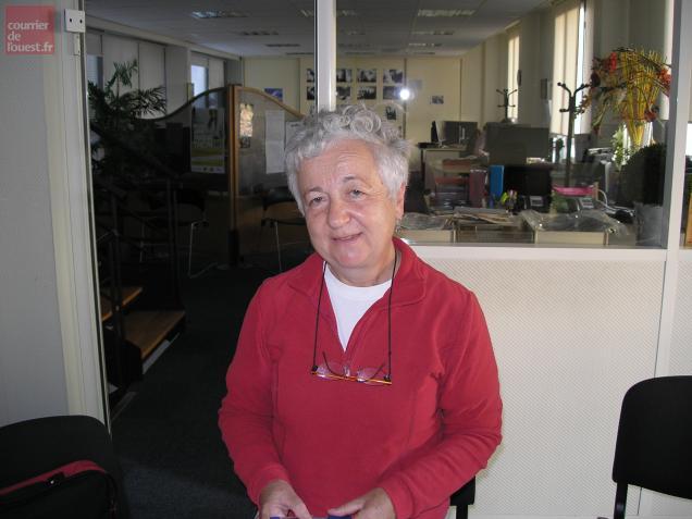 Sylviane Mounier, présidente du Comité départemental de la randonnée pédestre.