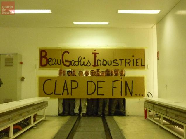 Les salariés ont voulu marquer la fin de cet atelier.