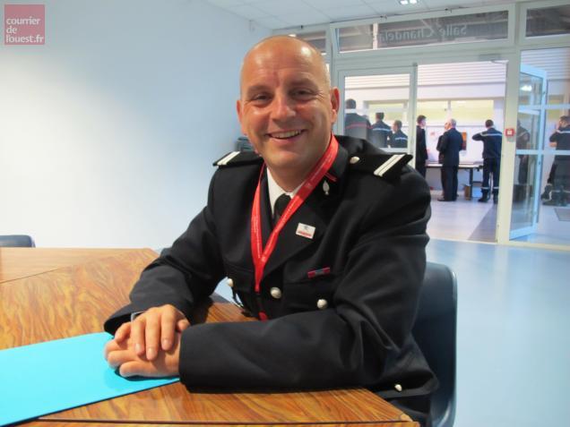 Anthony Brochet, président de l'Union départementale des sapeurs-pompiers de l'Anjou attend 350 congressistes aujourd'hui.