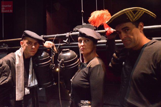 Bruno Durand, Cathy Lamy et Xavier Chavari jouent Molière à Trélazé.