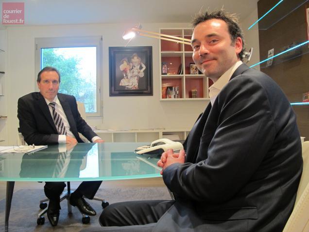 Cédric Muller (à droite) sera chargé de la gestion opérationnelle au côté de Gilles Lecoublet, PDG de Quadra.