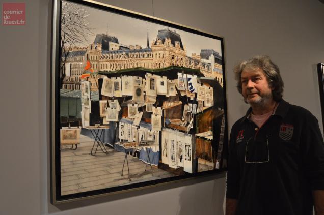 Les bouquinistes des quais de Seine ont inspiré Joël Rougié qui expose à Trélazé
