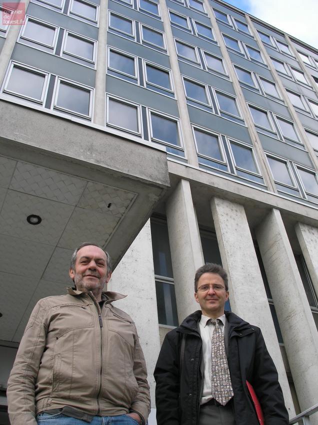Jean-Claude Sureau et Thierry Lefèvre, respectivement président et directeur de la CPAM.