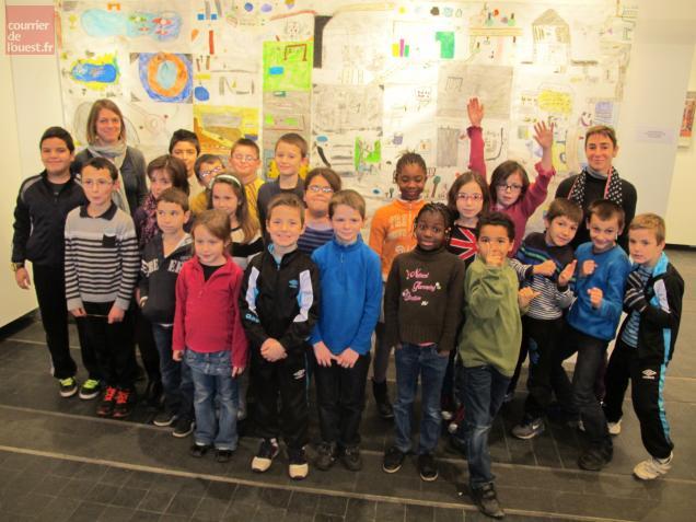 Les dessins de cette classe de Millocheau sont exposés tout ce week-end salle Joly-Leterme.