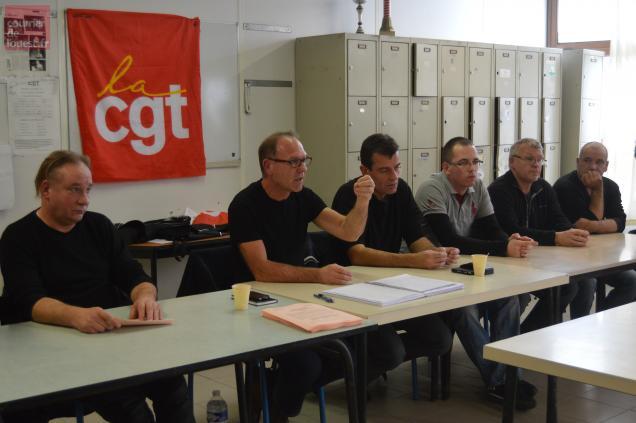 Les élus CGT des Ardoisières d'Angers rejettent la fatalité de la fermeture projetée par la direction.