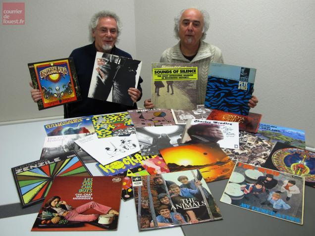 Michel Alzon et Richard Durand organisent leur 3e Foire aux disques à Saumur.