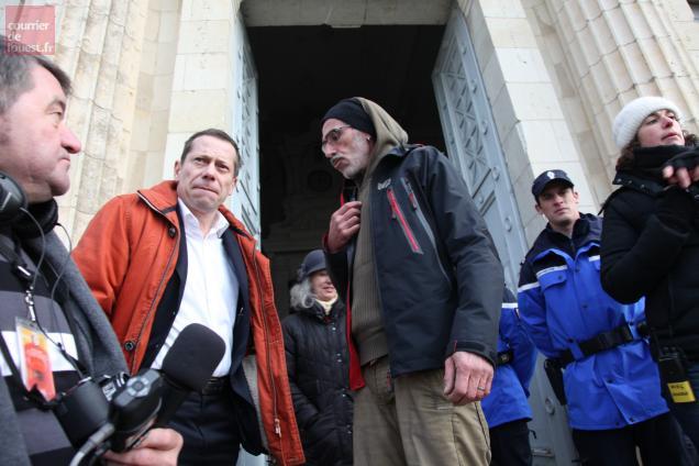 Mathieu Amalric en tournage jusqu'à samedi au tribunal de Baugé.