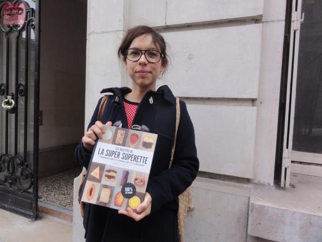 Mélanie Guéret en dédicace samedi matin à Brion.