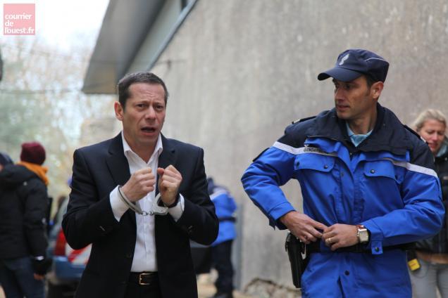 """Mathieu Amalric terminera demain le tournage de """"La Chambre bleue""""."""