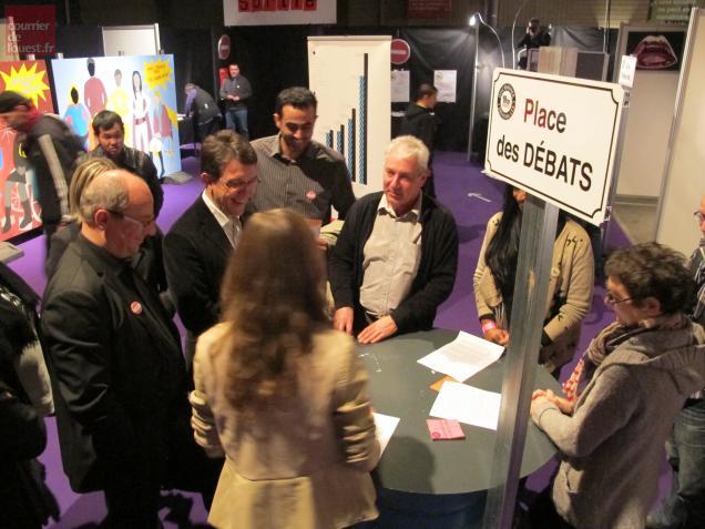 Les socialistes Christophe Clergeau, premier vice-président de Région, et Jean-Marc Vacher ont joué le jeu…