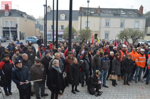 Les soutiens n'ont pas manqué aux Ardoisiers reçus en délégation à la mairie de Trélazé, ce mercredi 4 décembre en matinée.