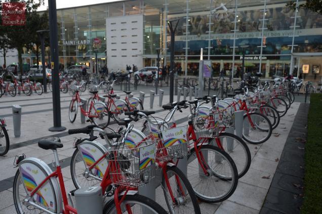 Angers. La station VéloCité +devant la gare Saint-Laud va fermer