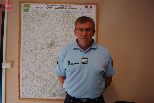 Le capitaine Gérard Collard, commandant de la communauté de brigades de Parthenay.
