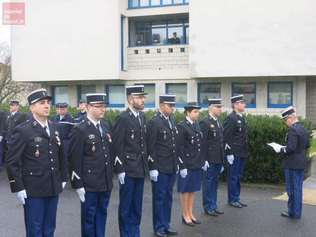 Les sept personnels de la Compagnie récompensés hier.