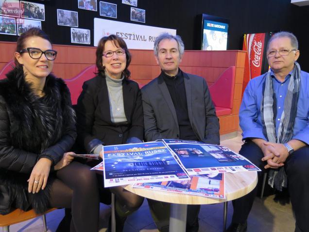 Ch. Chassagne avec A.Efimova, J.- M. Batsch et B. Caillaud, d'EDA FR.