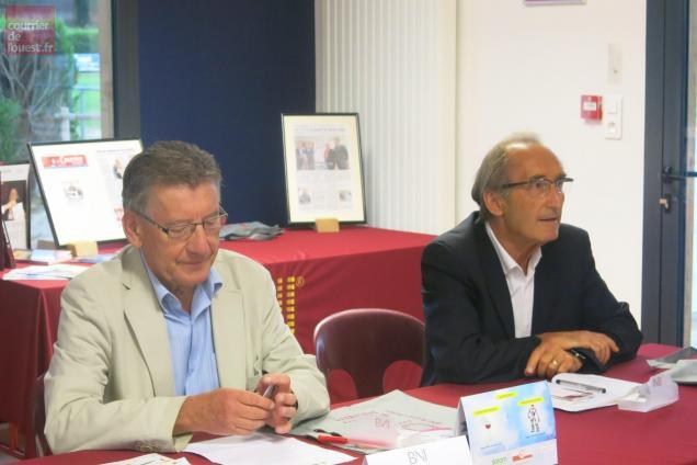 Jean-Michel Bernier et Patrice Pineau, invités du BNI Nord Deux-Sèvres.