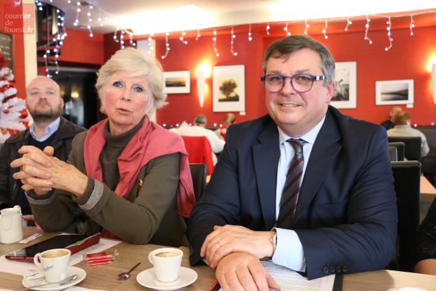 Diane de Luze (LR) et Charles-Henri Jamin (PCD).
