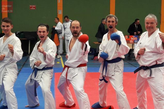 L'équipe baugeoise, médaille d'argent