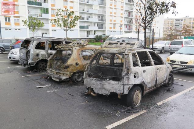 angers. une quinzaine de voitures brûlées le week-end dernier