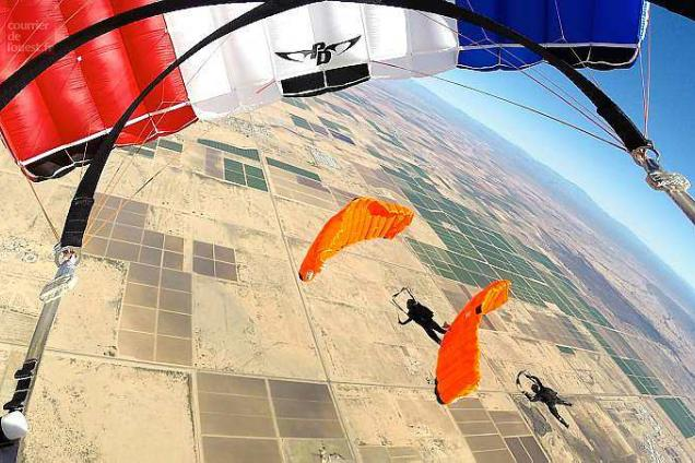 parachutisme orange