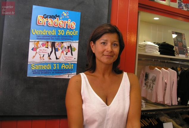 Alexia Moreaud, vice-présidente de Niort en ville, partie prenante dans cette manifestation.