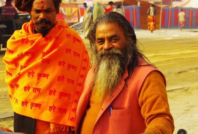 Sages sadhus, Kumba Mela, Inde. Photo DR